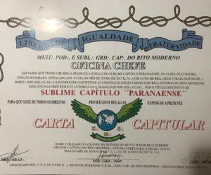Carta Capitular – Sublime Capítulo Paranaense
